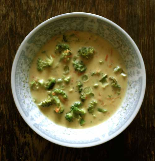 Recipe for TGI Fridays Broccoli Cheese Soup Copycat