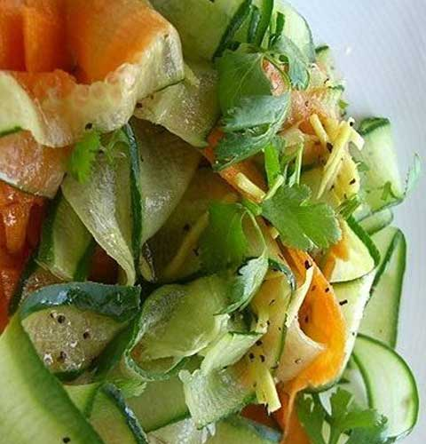 Cucumber Ribbon Salad
