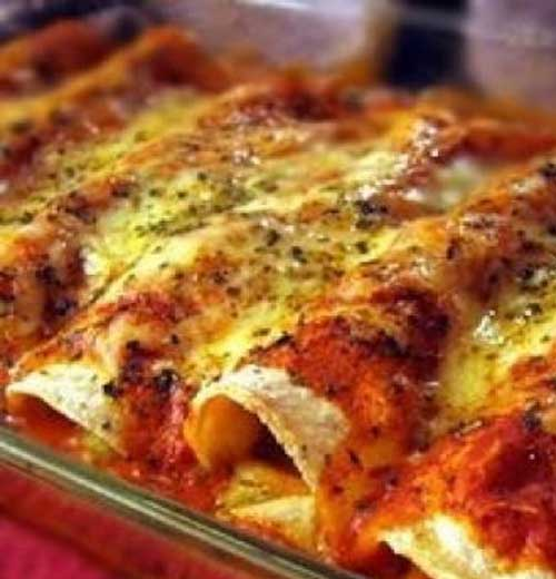 Recipe for Spicy Chicken Enchiladas
