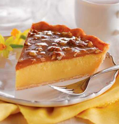 Recipe for Praline Custard Pie