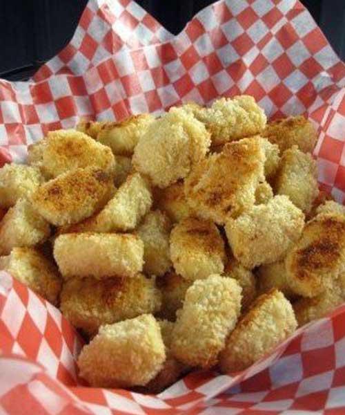 Recipe for Cheesy Cauliflower Tots