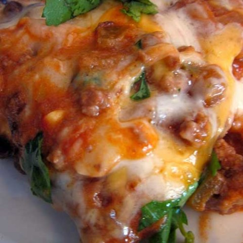 Recipe for Cheesy Enchilada Casserole