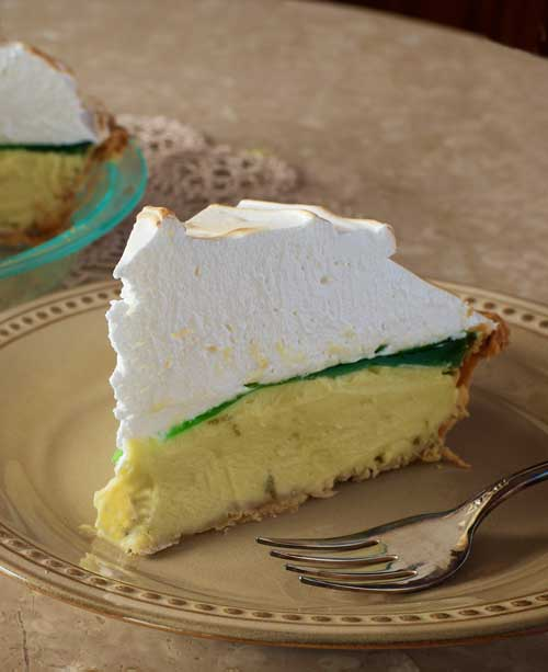 Recipe for Margarita Meringue Pie