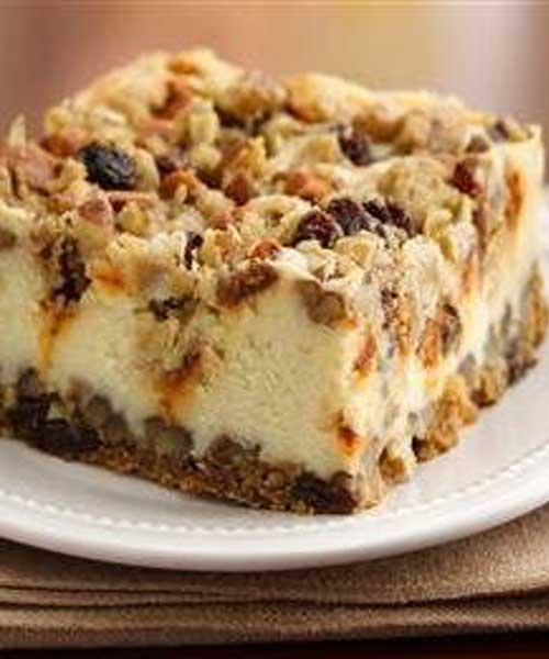 Recipe for Oatmeal Raisin Cheesecake Crumble