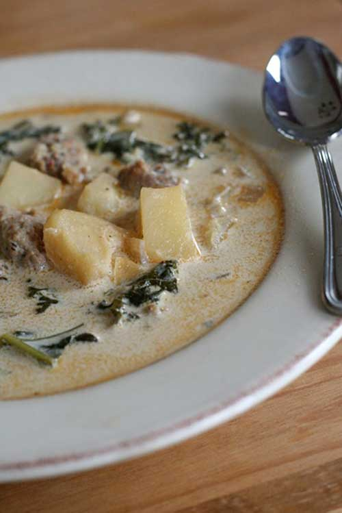Recipe for Crockpot Zuppa Toscana