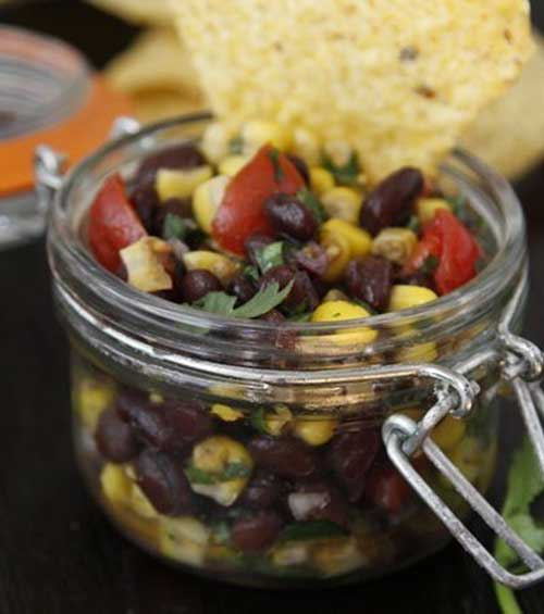 Recipe for Corn and Black Bean Salsa - If you're not a fan of chopping but love homemade salsa, this is the recipe for you!