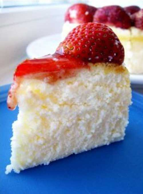 Light Strawberry Cheesecake