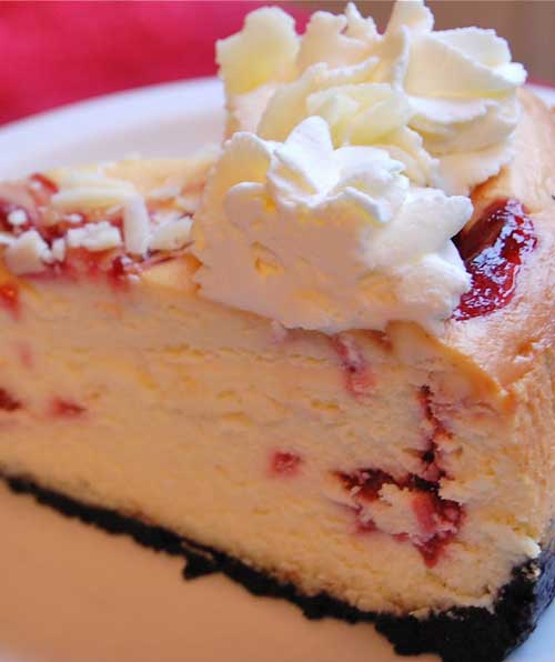 Copycat Cheesecake Factory White Chocolate Raspberry Truffle Cheesecake