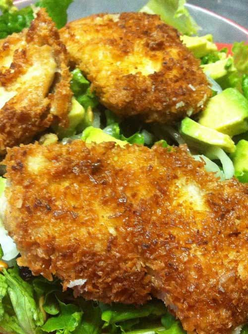 Coconut Crispy Chicken Salad