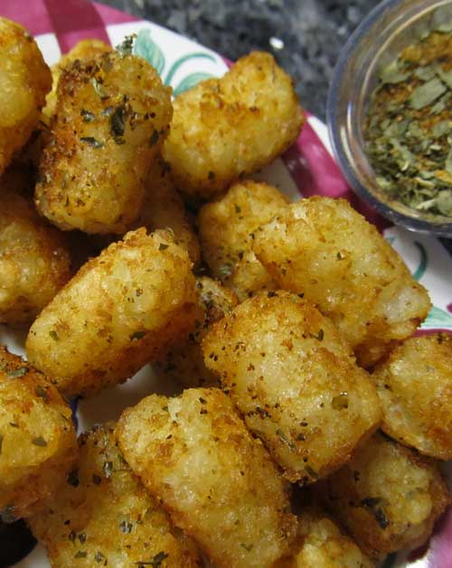 Recipe for Mexi-Fry Tater Tots - This recipe is a cinch. It's fast. easy and you can make up extra seasoning and have on hand to use anytime.