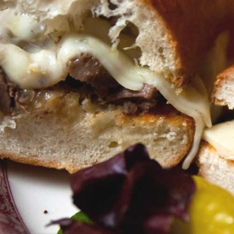 Recipe for Slow Cooker French Dip Sandwiches - Recipe for Slow Cooker French Dip Sandwiches - Slow cooker French dip sandwiches are an easy Sunday meal. A beef roast is cooked low and slow in a rich beef stock until it becomes tender and literally falls apart. The meat is then tucked into a soft roll and served with au jus.