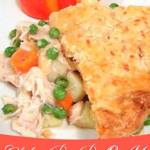 Recipe for Chicken Pot Pie-O-My - Chunks of tender chicken, lots of vegetables and a tasty crust. It has everything good, a perfect comfort food kind of meal for me!