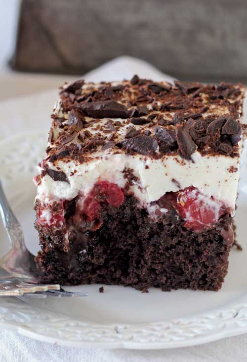 Chocolate Poke Cake With Cherry Pie Filling