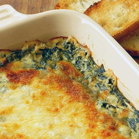Recipe for Hot Spinach Dip - This recipe is awesome as a dip and would be just as delicious as a side. The other great thing is how easy it is to make it your own.