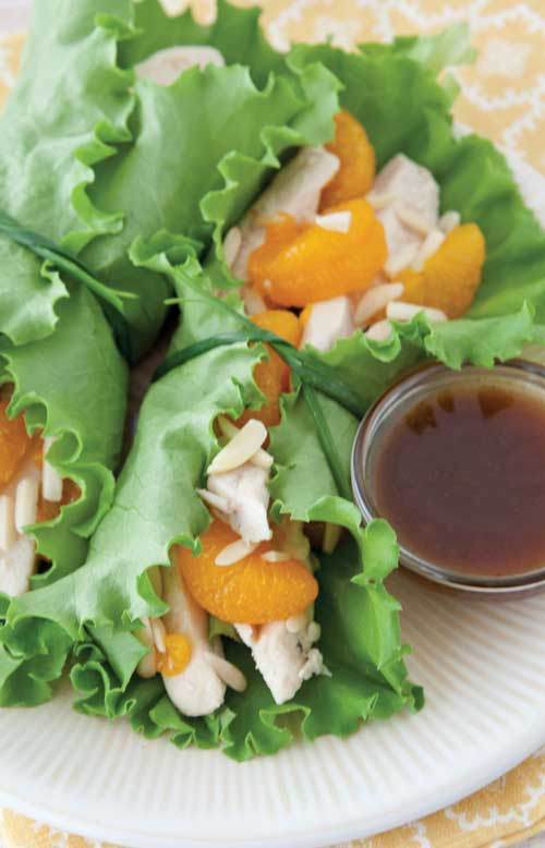 Recipe for Asian Chicken Lettuce Wraps - These five-ingredient Asian Chicken Lettuce Wraps build immense flavor into a healthy meal, in just about five minutes of prep time.
