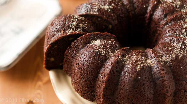 Recipe for Chocolate-Walnut Bundt Cake - This is a beautiful cake recipe, that just so happens to be loaded with chocolate-y goodness!