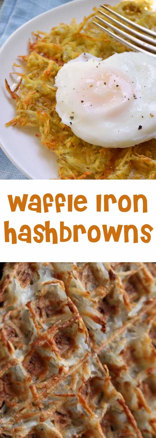 Recipe for Crispy Hash Browns – in the Waffle Iron - If you like crispy edges, this is the hash brown for you. Not to mention, it's just about the easiest thing ever.