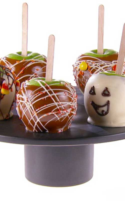 White Chocolate Caramel Apples