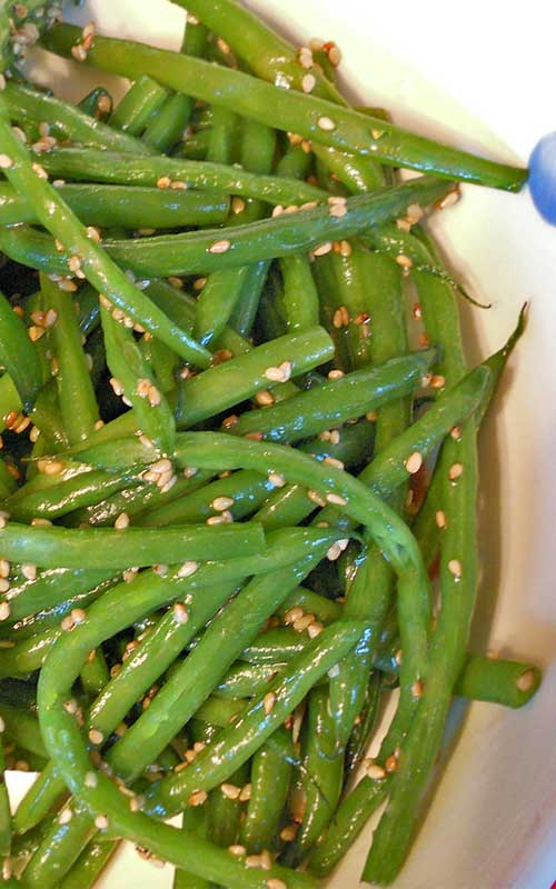 Recipe for Sesame Green Beans - A quick and easy side dish recipe. A perfect compliment to any holiday spread.