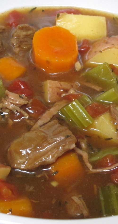 Recipe for Old-Fashioned Beef Stew - This is a very basic beef stew. It's easy, delicious and inexpensive to make. While there are hundreds of variations of this traditional recipe, it's hard to improve on this version's savory and comforting goodness.