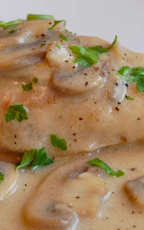 Baked Chicken with Mushroom Sauce