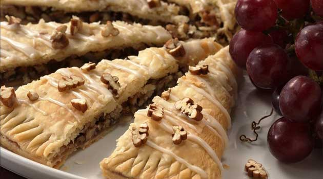 Recipe for Easy Danish Kringle - Serve this nut-filled pastry with a compote of cut-up fresh fruit for an easy holiday breakfast, sure to please all your guests!