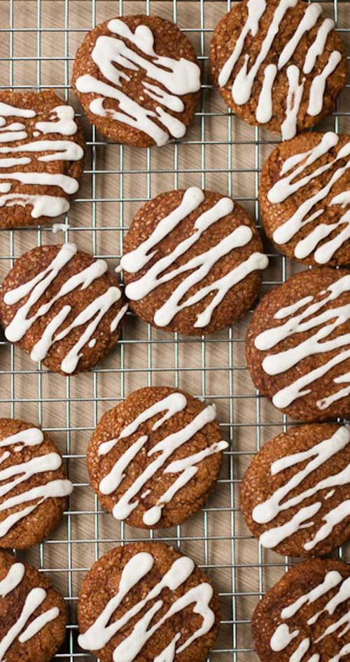 Recipe for Iced-lemon Ginger Cookies - We love these frosted ginger cookies' soft texture and bright spice flavor. Perfect for gifts and Christmas cookie swaps!