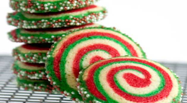 Recipe for Peppermint Pinwheel Cookies - This is rather a lengthy recipe, but it's quite easy. It's just the layering of the doughs together that is time-consuming, but don't be put off; these are the most fantastic Christmas cookies.