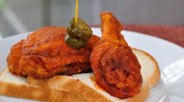 Recipe for Nashville Hot Chicken - If you've never had Nashville hot chicken, you're in for an experience. Crisp fried chicken coated in a smoking hot paste of cayenne pepper and spices. YUMMY!