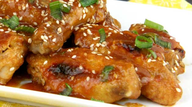 Recipe for Teriyaki Pineapple Wings - Crisp, sticky delicious baked Teriyaki Pineapple Wings! The sauce is super easy and I like it because its a nice twist on the other Asian style wings i've had.