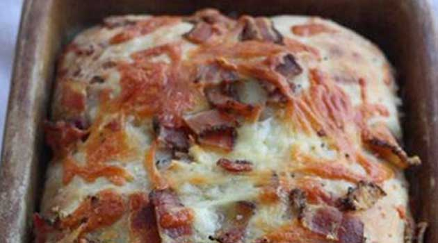 Recipe for Loaded Bacon Cheddar Bread - The best bacon cheddar bread you will ever bake! And you know you can't go wrong with bacon, cheese, and bread.