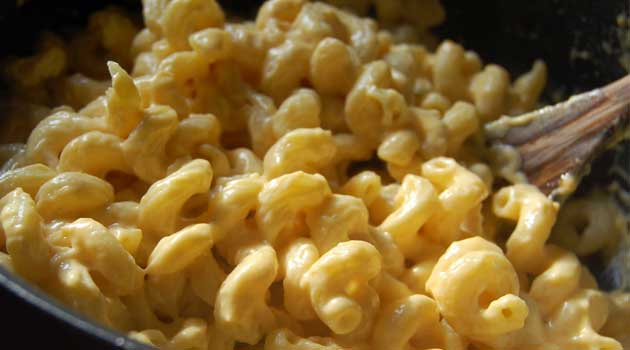 Recipe for Creamy Stovetop Macaroni and Cheese - This comes together very quickly, and you won't believe how delicious it is. This recipe for macaroni and cheese tastes even better than a version made with Velveeta, and it's every bit as creamy.