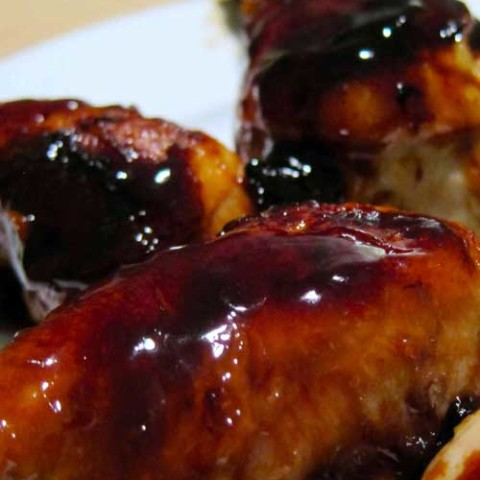 Recipe for Sweet Soy Glazed Chicken - These sweet and sticky chicken drumsticks are easy to make and everyone loves them. Great as an appetizer or as a main dish served with rice and a veggie.