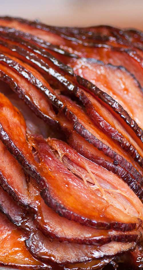 Recipe for Samuel Adams Boston Lager Glaze - Combine the malty caramel flavor of a Boston lager with sweet, sticky caramelized peaches; for a glaze any ham would be only too lucky to have brushed on in layers.