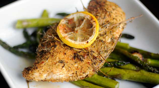 Recipe for Thyme Chicken with Garlic and Asparagus - Everyone needs a ...