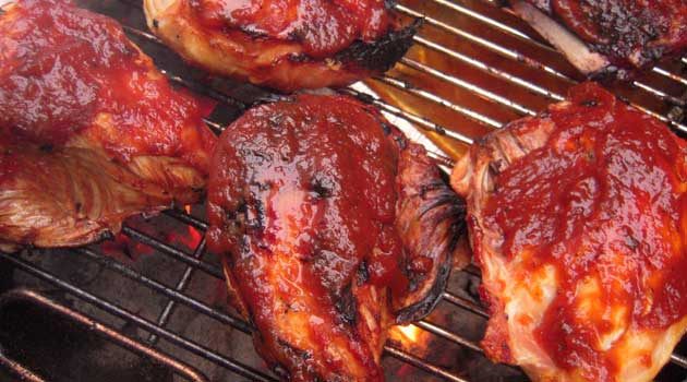 Recipe for BBQ Chicken - Saucealicious. Is that a word? We hope so because it's the only way to describe this BBQ Chicken.