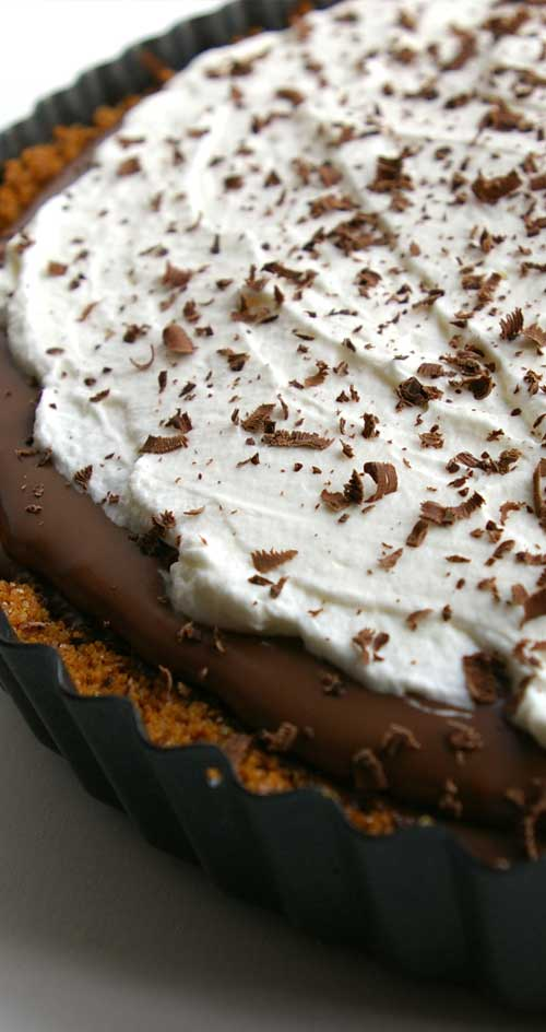 Recipe for French Silk Pie - Richly chocolate, smooth without being gloppy. It slumped ever-so-slightly in that perfectly decadent way. As if it was so full of goodness that it couldn't contain itself.
