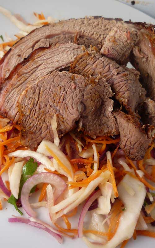 Recipe for BBQ Beef Brisket - The perfect brisket is the holy grail of barbecue—often pursued, rarely attained. This recipe is sure to get you pretty close though.