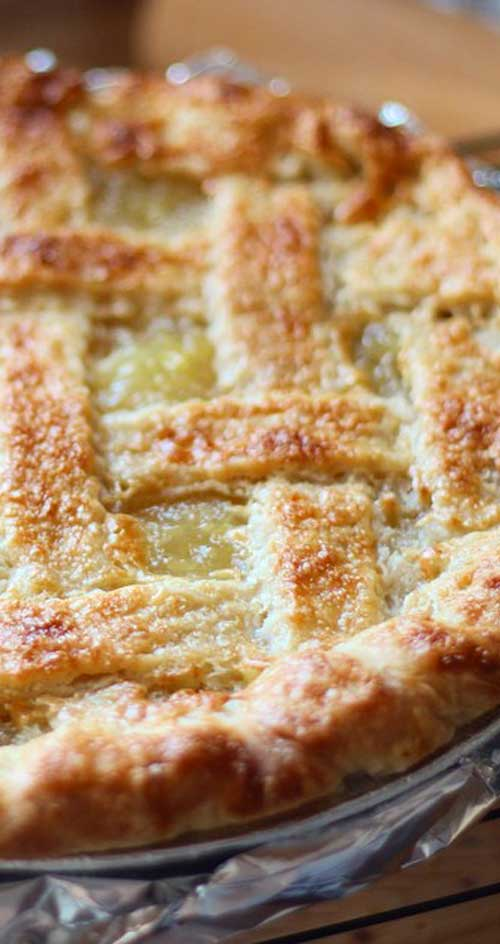Recipe for Pineapple Pie - Move over, traditional apple pie. This zesty pineapple pie is a refreshing taste of the Islands that's apple-pie easy.