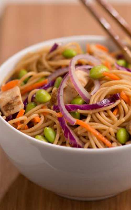 for Sesame Asian Noodle Chicken Salad - A refreshing light pasta salad ...