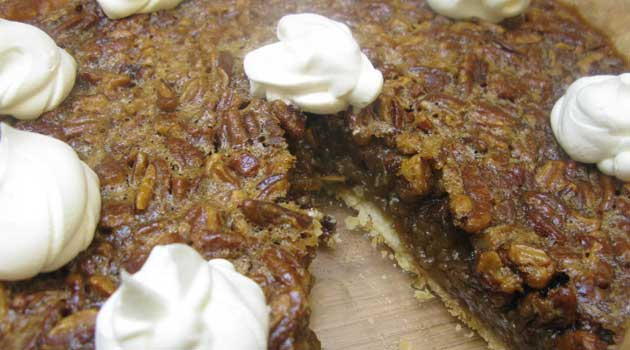 "Recipe for Southern Pecan Pie - My dad crowned this Southern Pecan Pie ""the best EVER"". It's absolutely perfect: not too nutty and not overly sticky."
