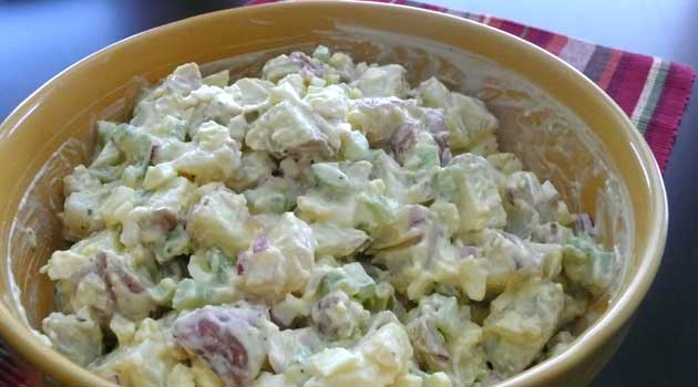 """Recipe for The Best Potato Salad EVER - At a family picnic, someone once declared this """"the best potato salad EVER"""", so that's been the recipe's title ever since."""