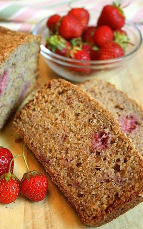 Recipe for Strawberry Breakfast Bread - The perfect breakfast, brunch, or snack. This bread is sure to get eaten quick!