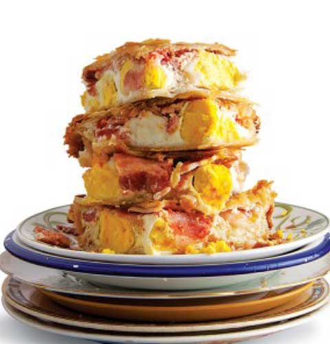 Recipe for Bacon and Egg Pie
