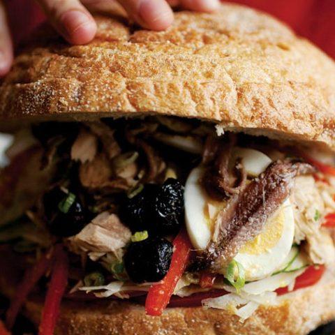 Recipe for Provencal Tuna Sandwich