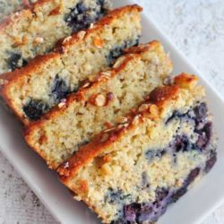 Recipe for Old Fashion Lemon Blueberry Pudding Cake