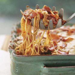 Recipe for Pizza Spaghetti Casserole