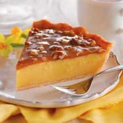 After the feast, after round two, before the coma: Would you like a slice of Praline Custard Pie?