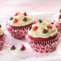 Recipe for Red Velvet Be Mine Valentine Cupcakes