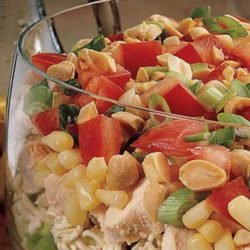 Recipe for Seven Layer Chinese Chicken Salad